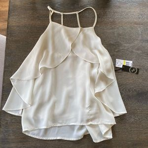 NWT Liberty Love von maur ivory tank top open back